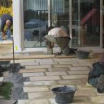 Verarbeiten von Natursteinplatten