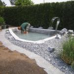 Wasserbecken in Betrieb nehmen