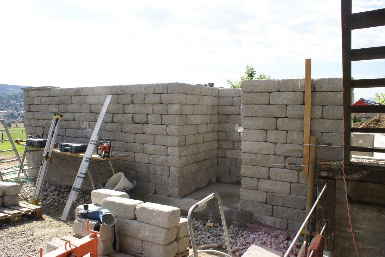 Erstellung Mauer mit Santuro Mauersteinen